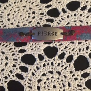 Lenny & Eva Fierce Sentiment and Leather Bracelet